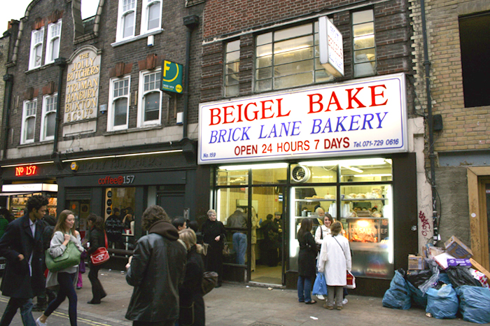 Die Beigel Bake Bäckerei in Shoreditch in London