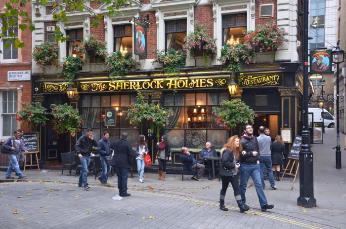 Der Pub Sherlock Holmes in London