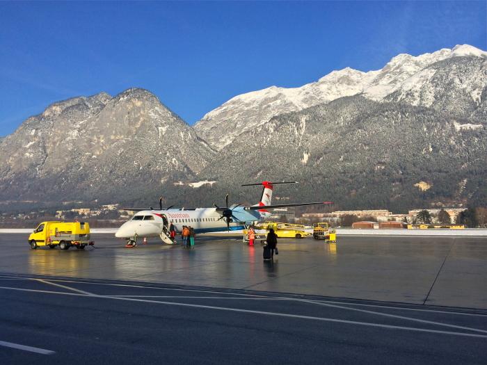 Der Flughafen Innsbruck ist der Gateway zu den fünf Tiroler Gletscher