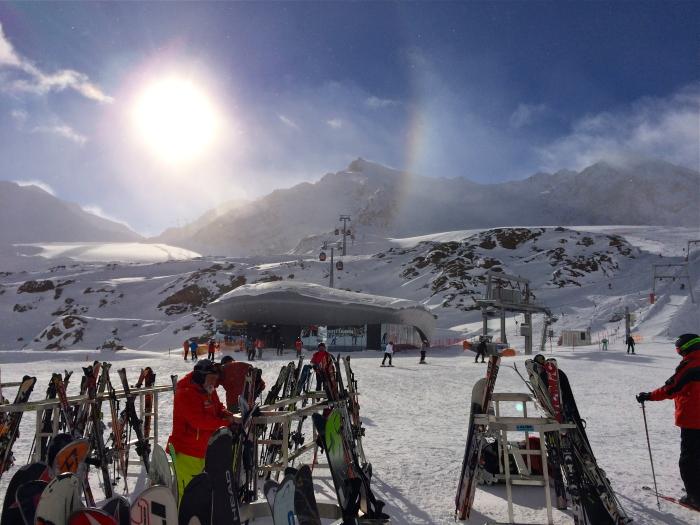 Skigebietet auf einem der fünf Tiroler Gletscher