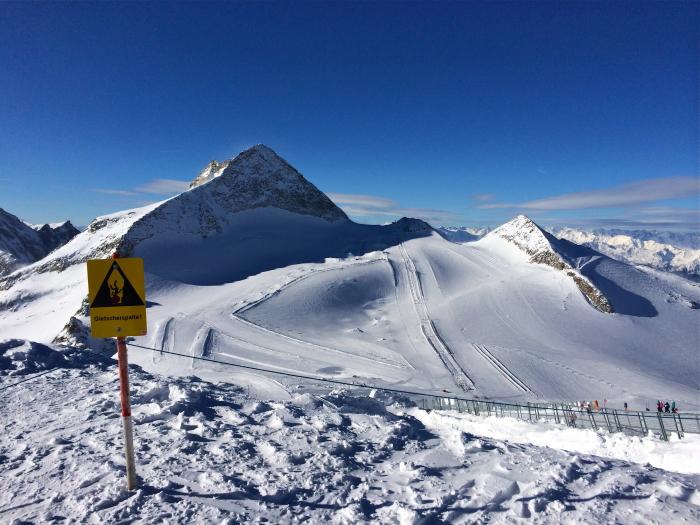 Der Pitztaler Gletscher, einer der fünf Tiroler Gletscher
