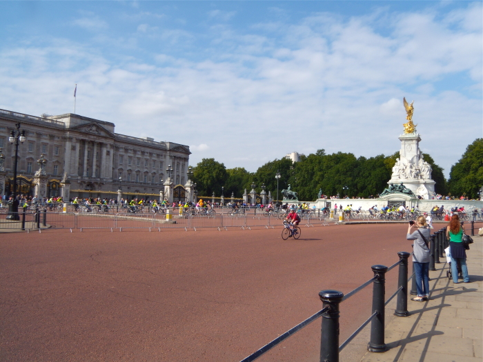 Der Buckingham Palace in London, England