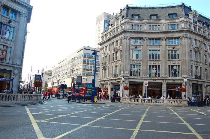Eine Einkaufszone in London
