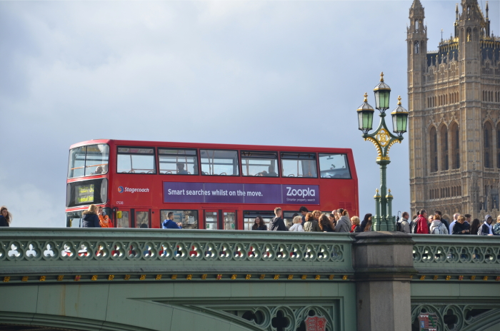 A typical red London Bus