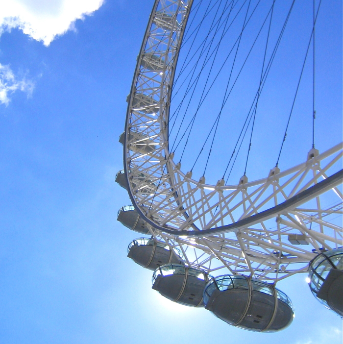 Das London Eye Riesenrad in Englands Hauptstadt