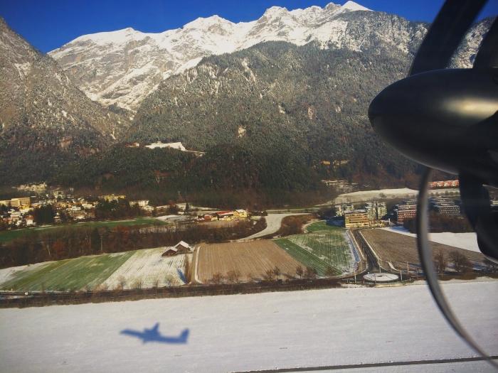 Abflug am Innsbruck Airport