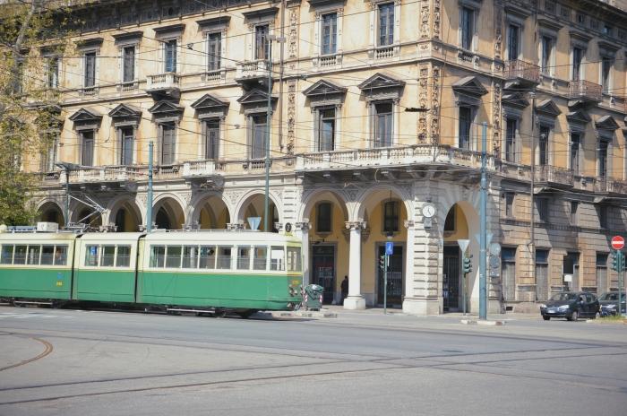 Die Straßenbahn in Turin