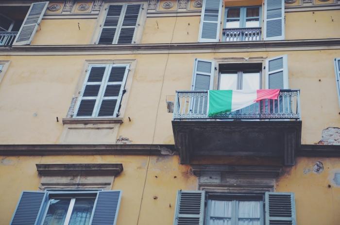 Ein Balkon in Turin