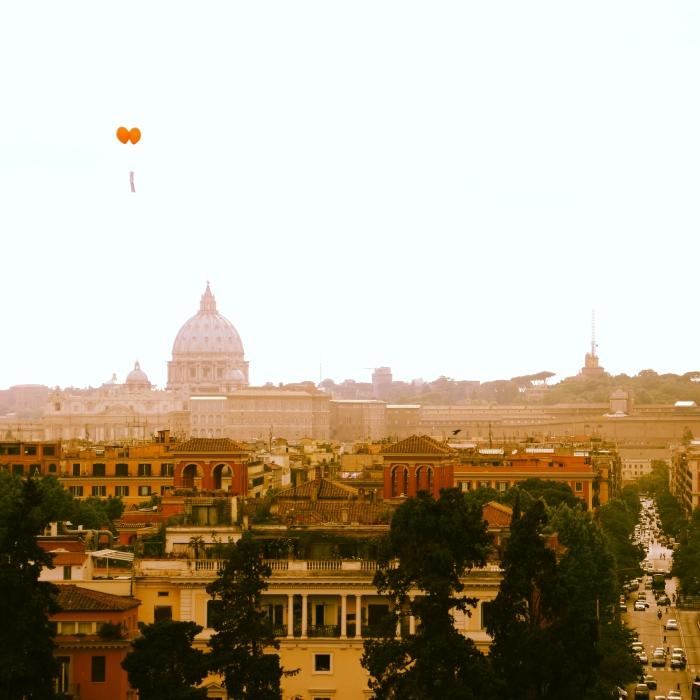 From Rome with love: This Story Behind shows a panoramic view of Rome