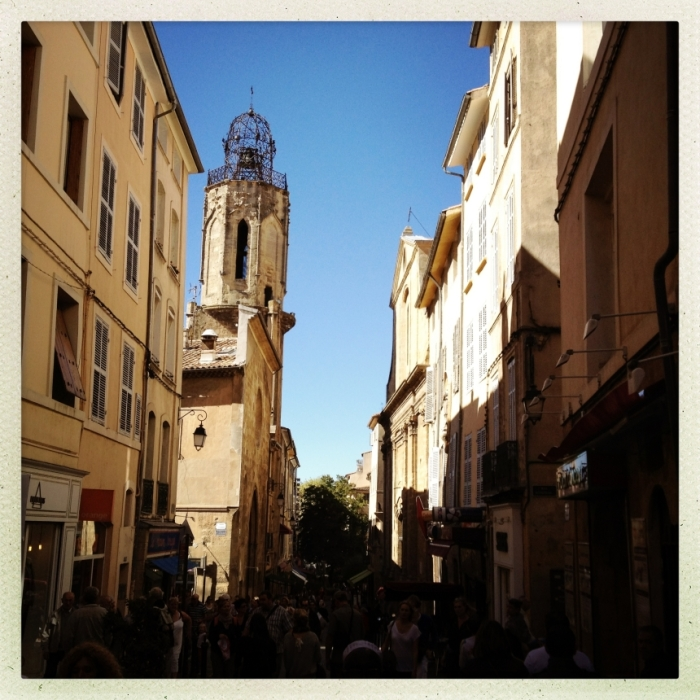A small street in Aix-en-Provence
