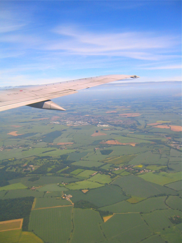 London on a Budget: The view out the plane over London