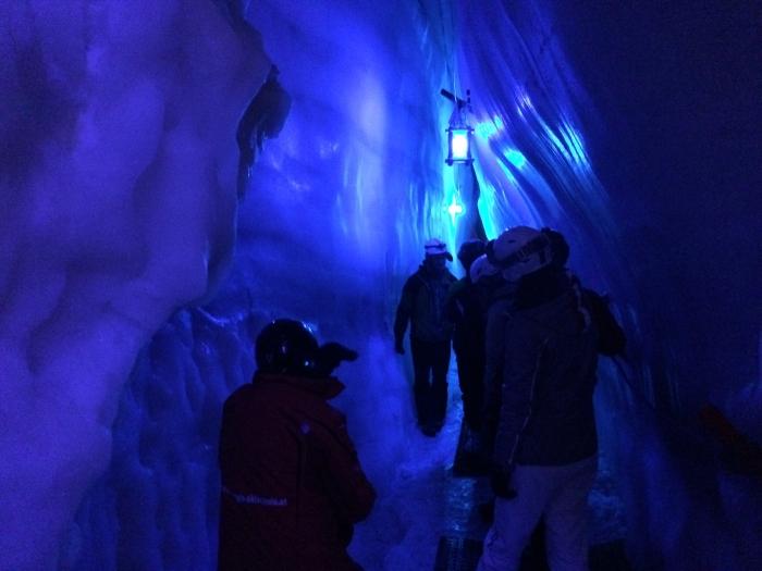 Inside a glacier in Tyrol in Austria