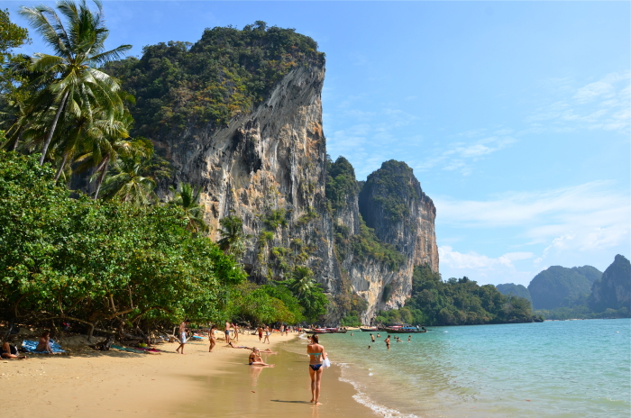 Ton Sai Beach near Krabi in Thailand