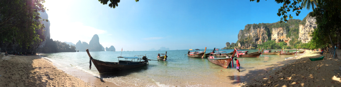 Ton Sai Beach in Thailand Panorama