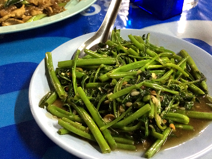 Foods in Thailand Morning Glory