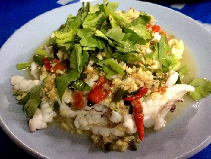 Foods in Thailand Squid