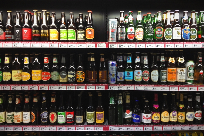 A selection of beers in a bottle shop is one of the reasons to visit Australia