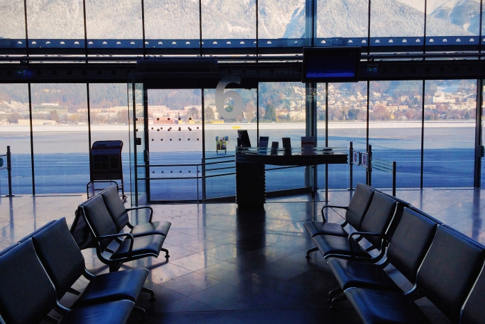 Gate 6 at Innsbruck Airport