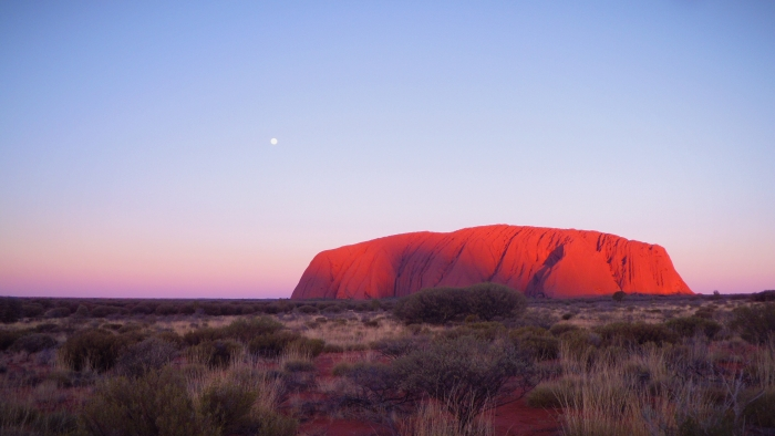 Backpacking Australien wie hier am Ayers Rock