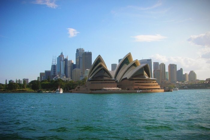 Backpacking Australien wie hier am Sydney Opera House