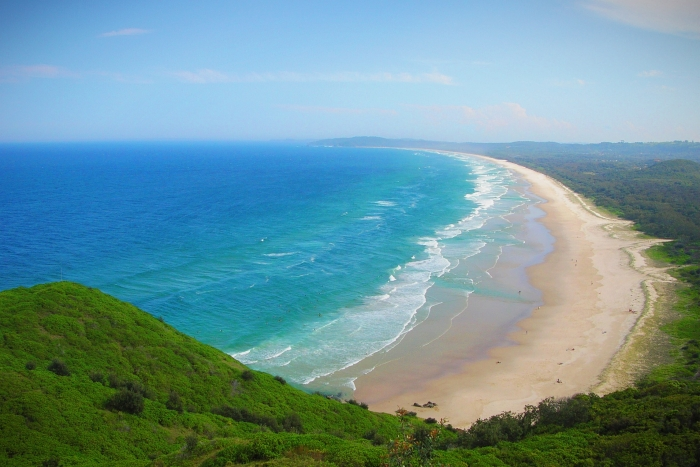 Long Beach near Byron Bay is one of the reasons to visit Australia