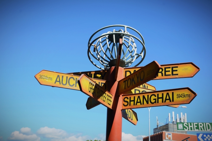 A signpost in Cairns is one of the reasons to visit Australia