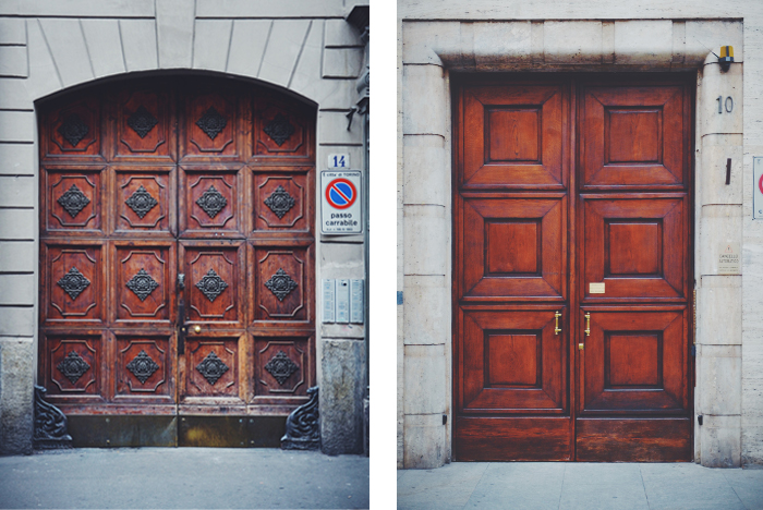 Two beautiful doors in Turin
