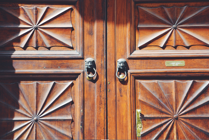 A wooden Door of Turin