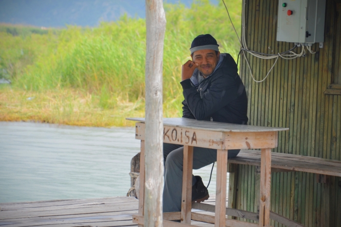 Another fisherman at the Aegean coast
