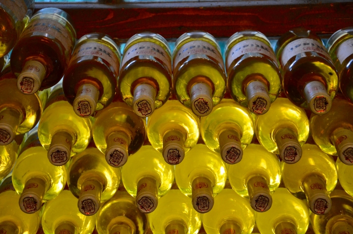 Whitewine bottles in Bulgaria