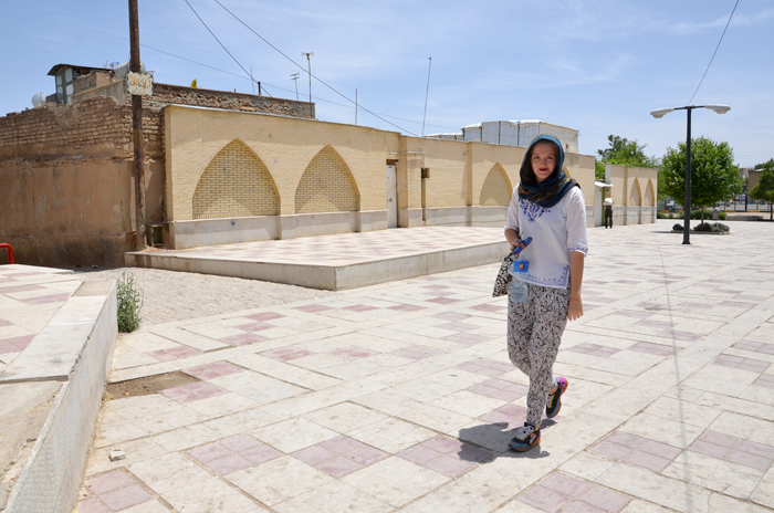 Woman in Iran: An outfit of me wearing a headscarf and casual blouse