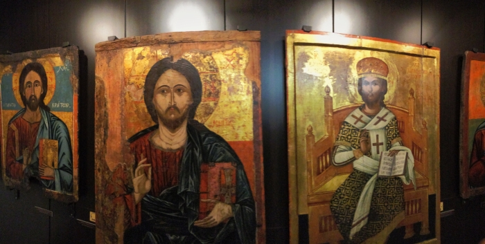 Icons in a church in Bulgaria