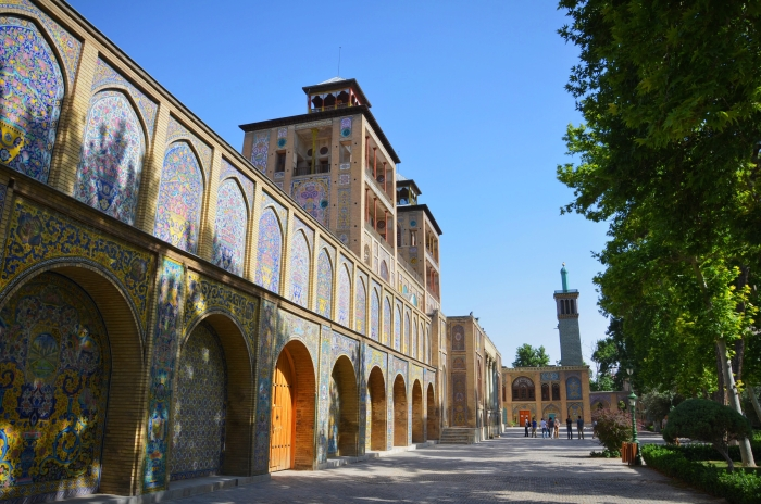 A walkway in the Golestan Palace in Tehran
