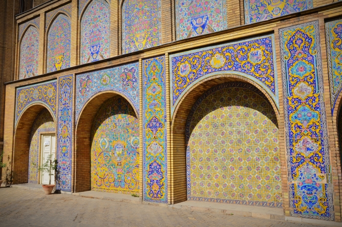 Many archways in the Golestan Palace in Tehran