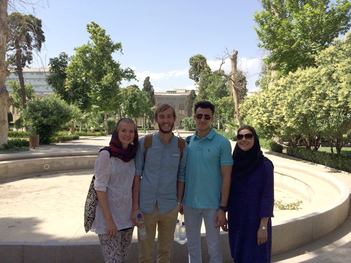 Woman in Iran: Me with Persian friends