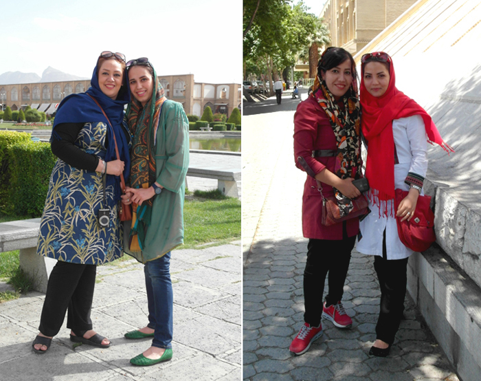 Woman in Iran: Two fashionably dressed women in Esfahan