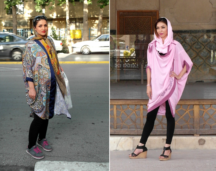 Woman in Iran:  Two fashionably dressed women in Shiraz