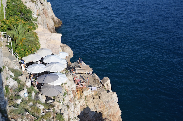 A rock cafe bar as seen from the Walls of Dubrovnik