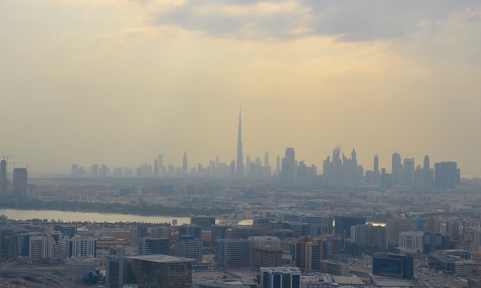 The anekdotique skyline of Dubai