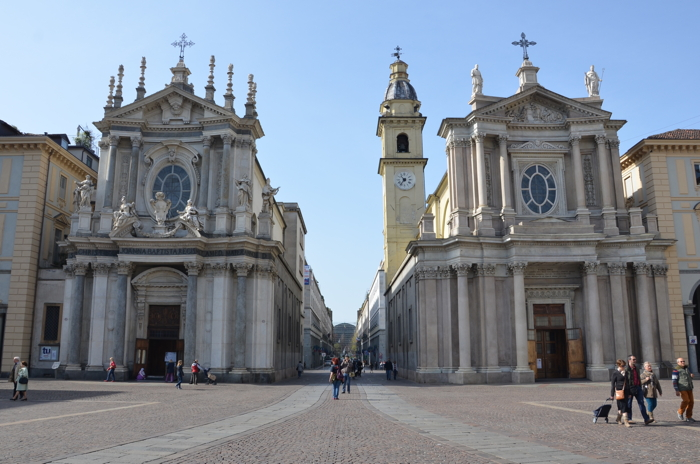 Churches in anekdotique Turin in Italy