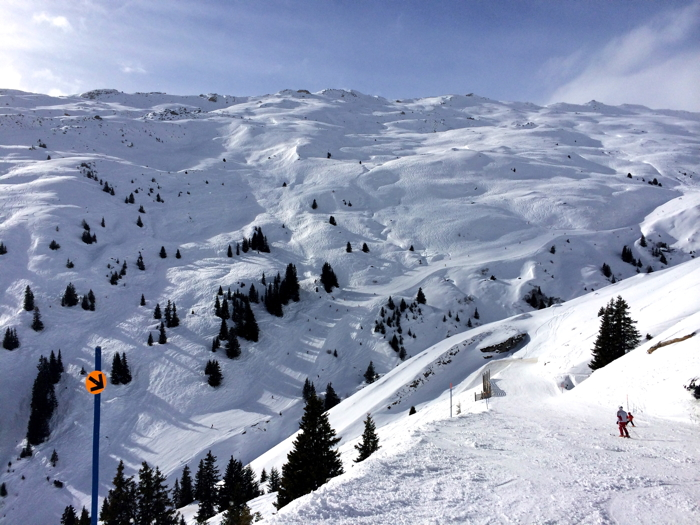 The anekdotique ski slopes in Laax in Switzerland