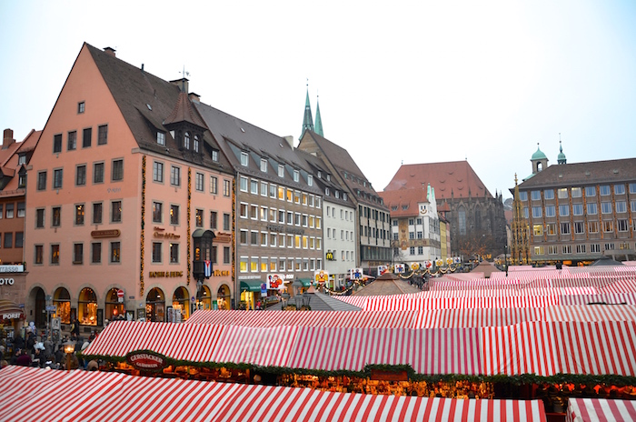 The Christkindlesmarkt in Nuremberg in Germany