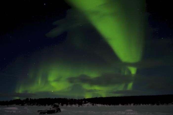 The Northern Lights near Kiruna in Sweden