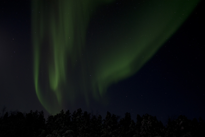 Another picture of Northern Lights at Kiruna in Sweden