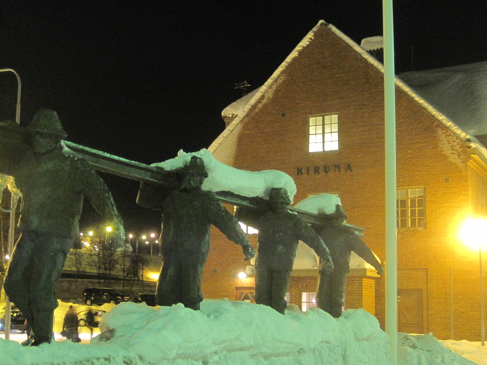 The main station of Kiruna in Sweden