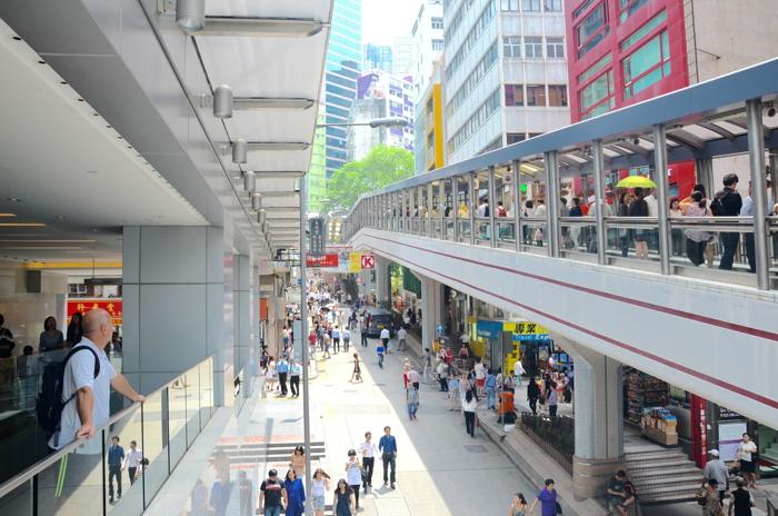 Escalator in Hong Kong