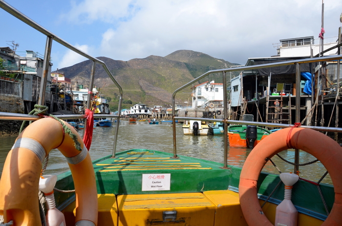 Boat ride in Tai O fishing village in Lantau Island Hongkong