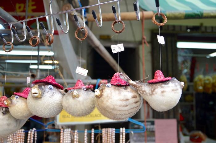 Souvenirs in Tai O fishing village in Lantau Island Hongkong