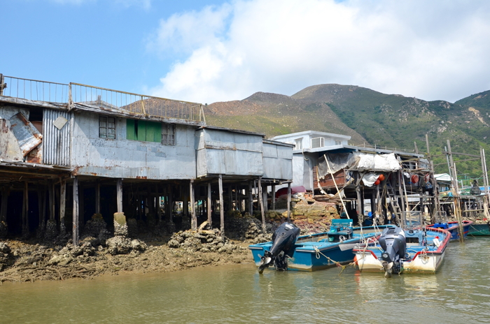 Boats in Tai O fishing village in Lantau Island Hongkong