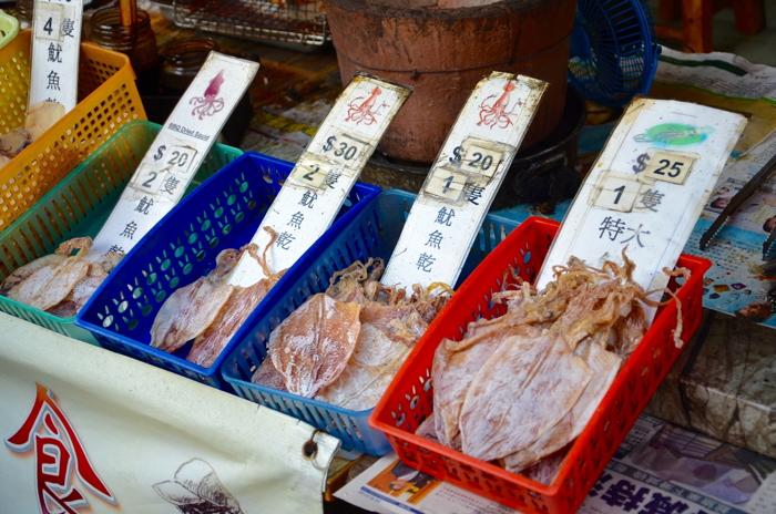 Fishes in Tai O fishing village in Lantau Island Hongkong